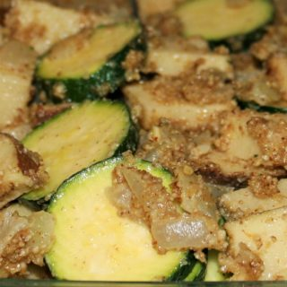 Potato Zucchini Casserole with Almond Pecan Parmesan