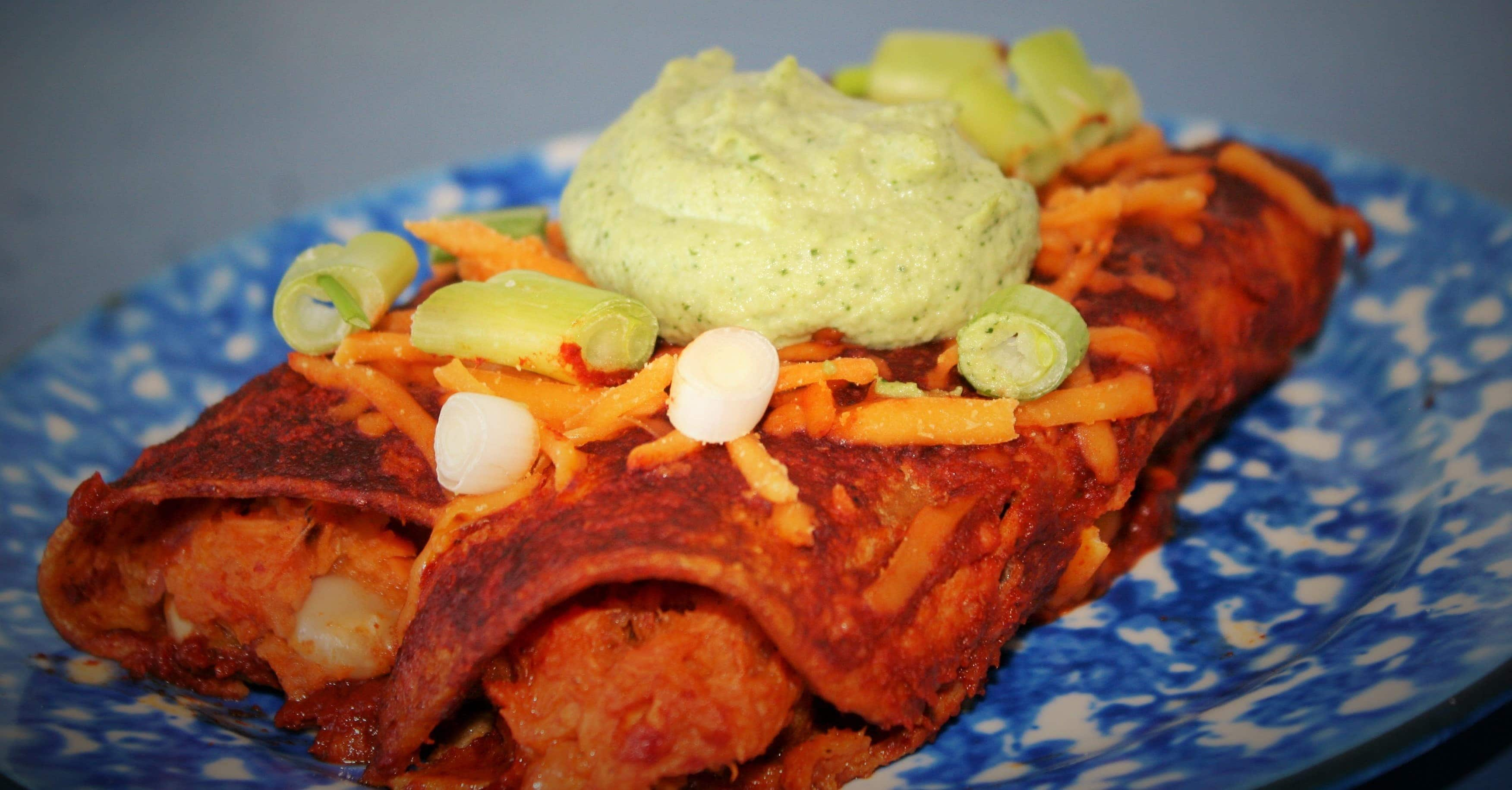 Smoky Sweet Potato and White Bean Enchiladas with Cilantro-Lime ...