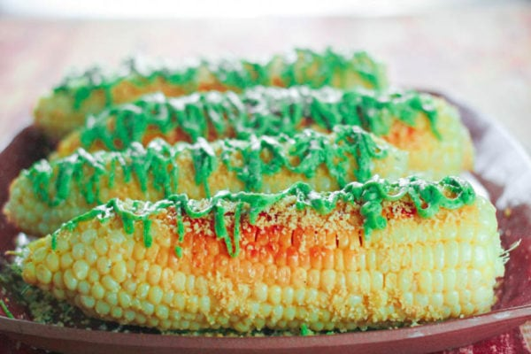 Mesquite Grilled Corn on the Cob with Almond Parmesan and Cilantro ...
