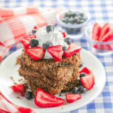 Red, White and Blue French Toast
