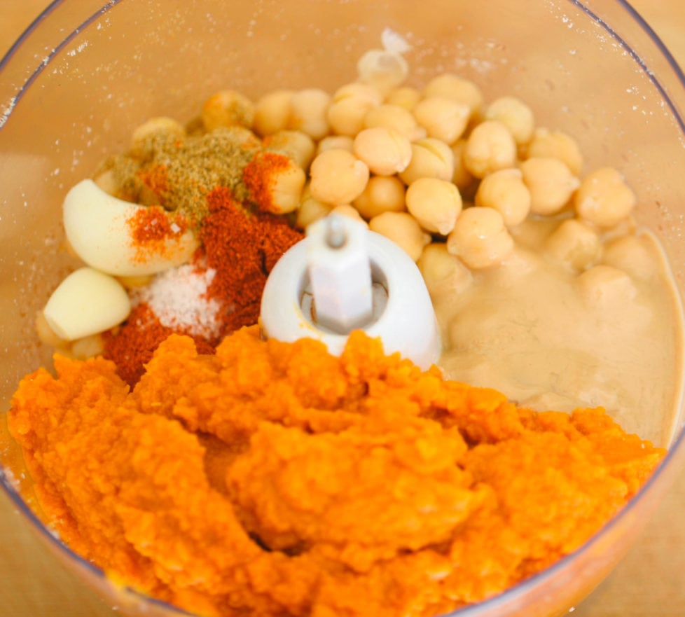 Ingredients for Spicy Pecan Pumpkin Hummus