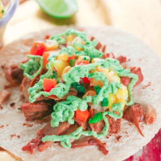 Spicy Jackfruit Tacos with Fresh Mango & Sweet Corn Salsa