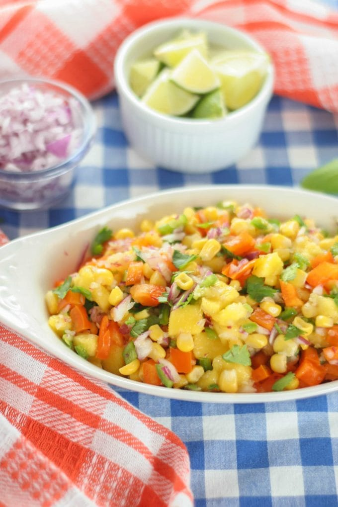 Mango and Corn Salsa