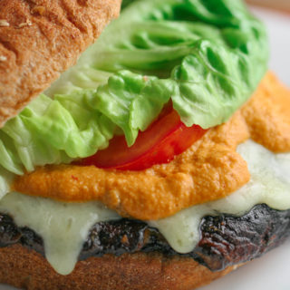 Grilled Portobello Mushroom Burger with Smoky Homemade Chipotle Sauce