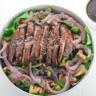 Pear, Pecan and Portobello Mushroom Salad
