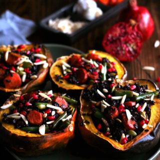 The BEST Stuffed Holiday Acorn Squash