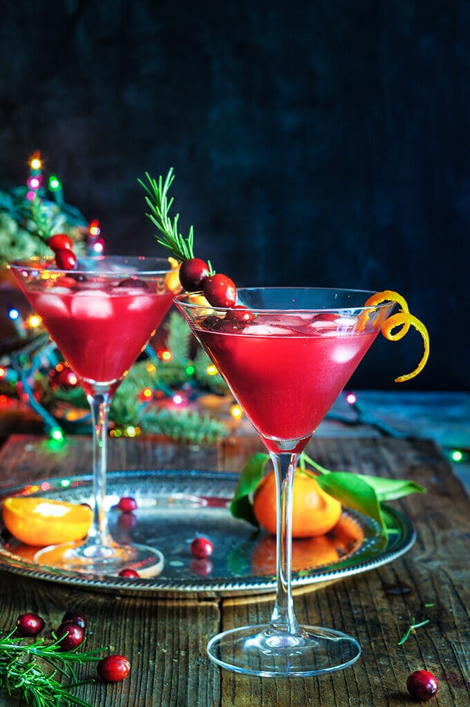 Cranberry Rosemary Citrus Martini