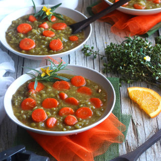 One Pot Vegan Split Pea Soup That Doesn't Suck