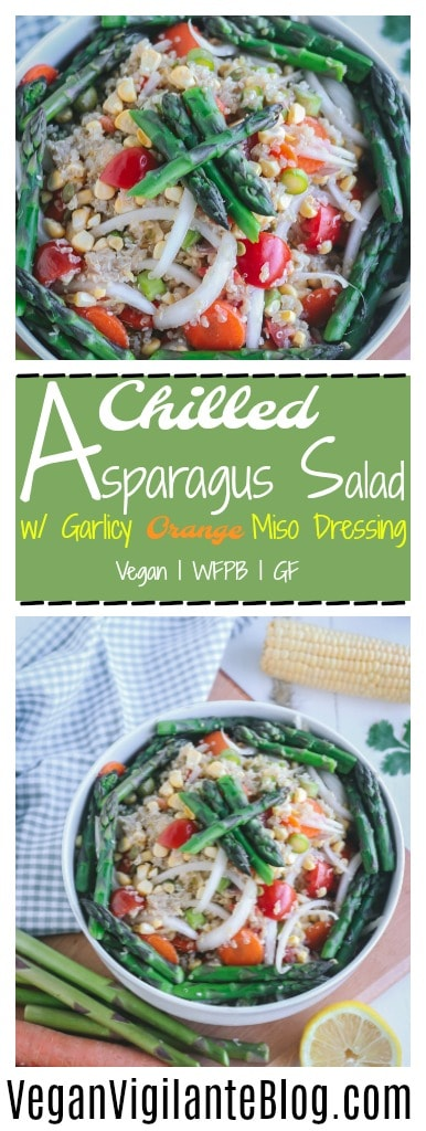 Pinterest Pin of Chilled Asparagus Salad