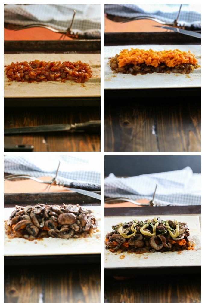 part two of step by step showing how to make mushroom wellington