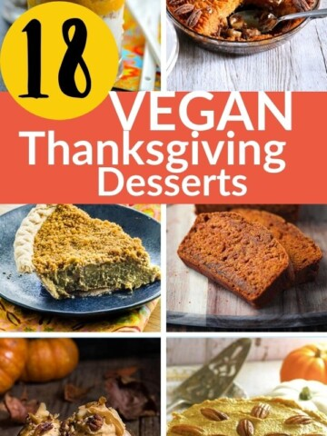 collage of Thanksgiving dessert recipes