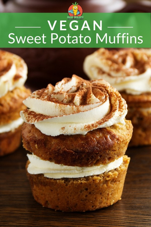 A Pinterest pin of muffins