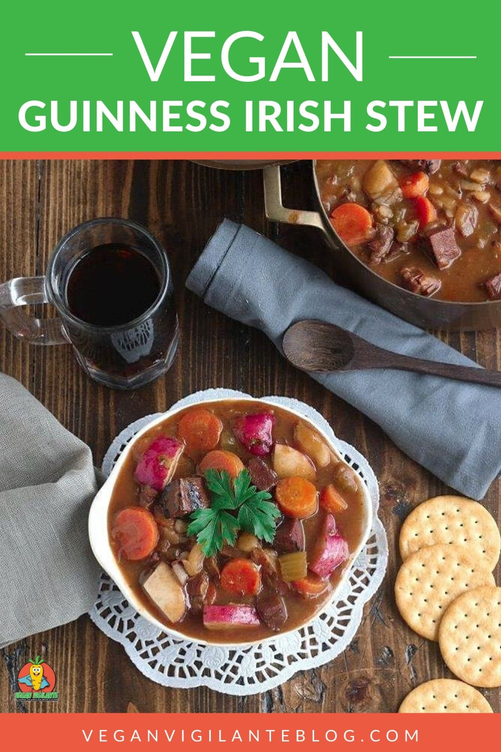 Vegan Guinness Irish Stew Vegan Vigilante