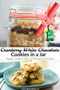 A Pinterest pin of cookies in a jar