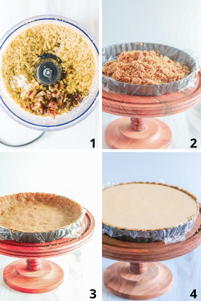 Steps with pictures on how to make cheesecake