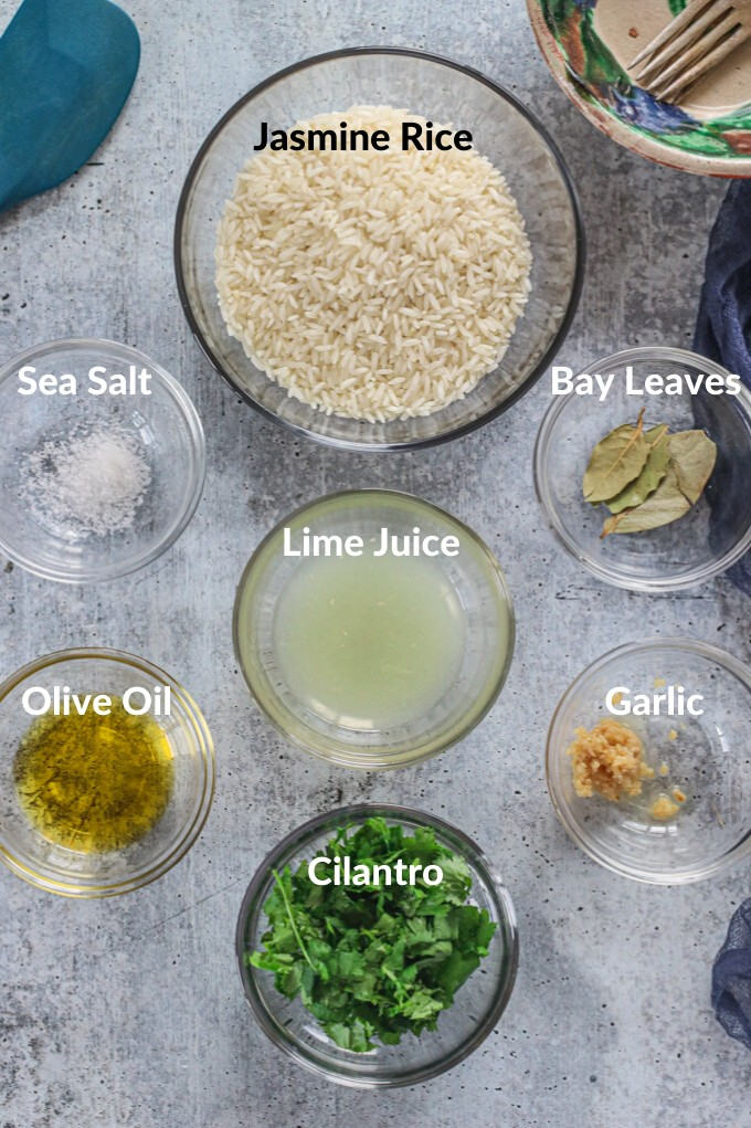 ingredients for cilantro lime rice