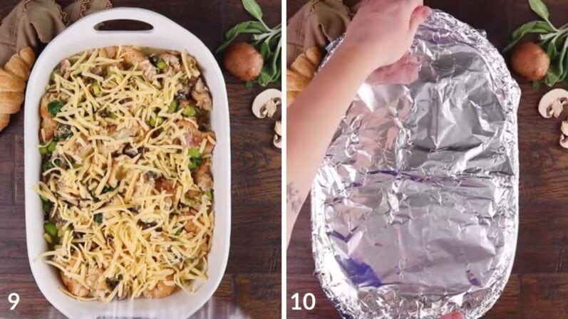 steps 9 and 10 on how to make vegan stuffing