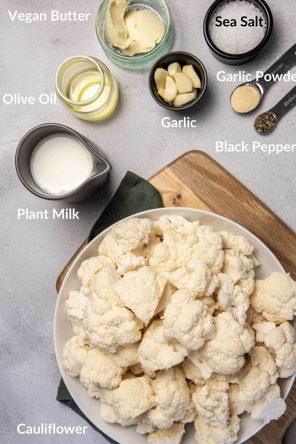 ingredients for cauliflower mashed potatoes recipe