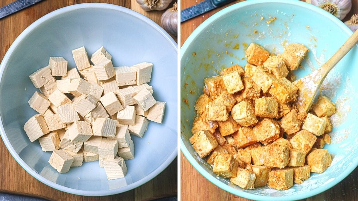 steps 6 and 7 for General Tso's Tofu recipe