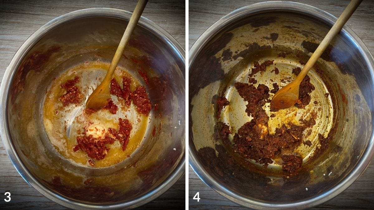 steps 3 and 4 for recipe