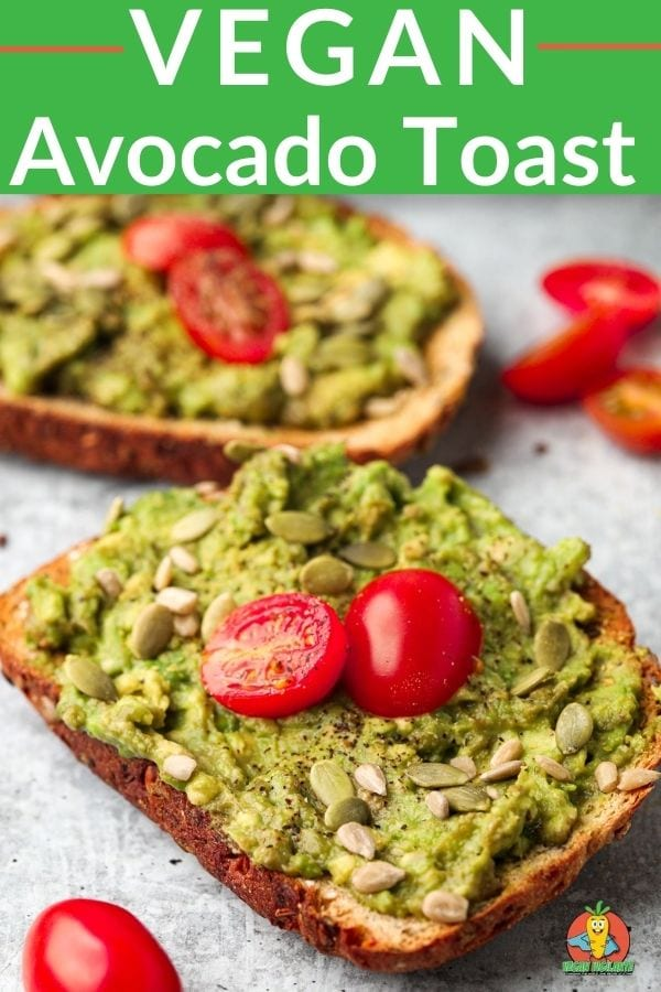 pinterest pin vegan avocado toast